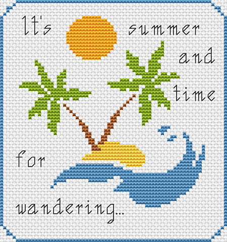 summer island cross stitch