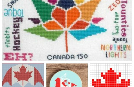 Cross-Stitch Patterns to Celebrate Canada