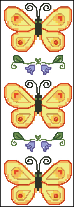 butterfly bookmark cross stitch pattern