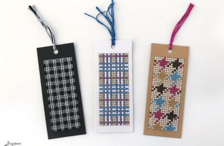 Stitch Bookmarks with Patterns Inspired by Fabric