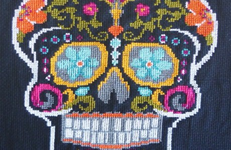 Stitch an Amazing Sugar Skull for Dia de los Muertos