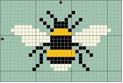 bee cross stitch chart