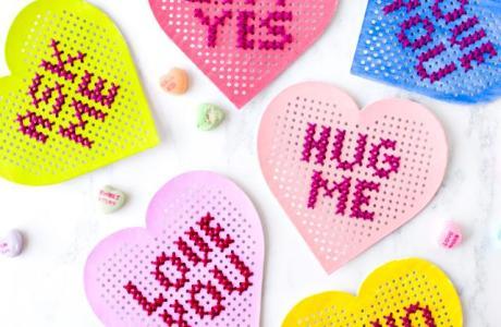 Stitch Some Conversation Hearts