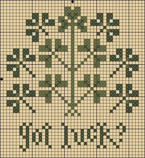 got luck cross stitch pattern