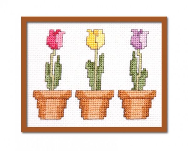 Time to Stitch Some Tulips