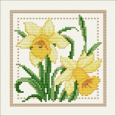daffodil cross stitch pattern