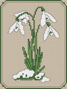 Snowdrops Cross-Stitch Pattern