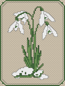 snowdrop cross stitch pattern