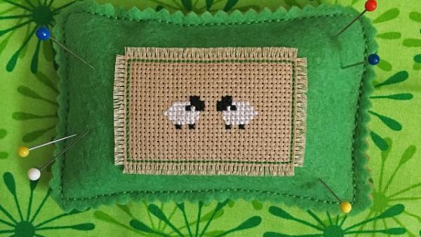 Stitch Little Lambs for a Sweet Pincushion
