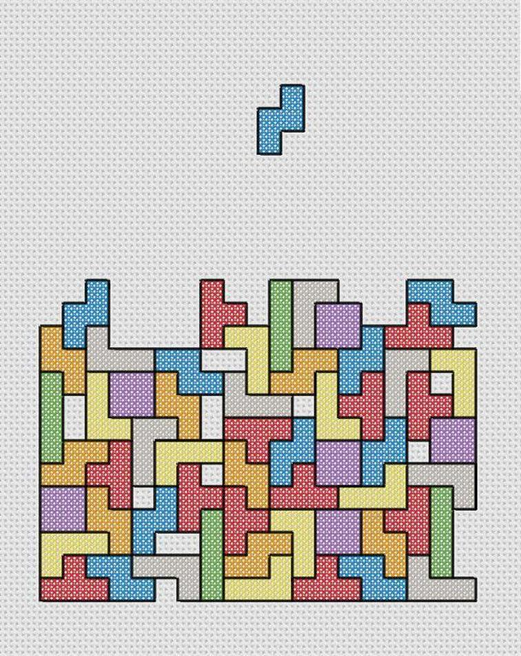 tetris cross stitch