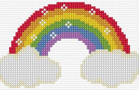 Stitch a Sunny Rainbow for a Kid's Room or Whatever