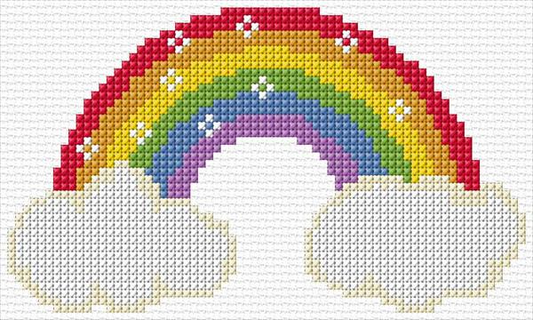cross stitch rainbow