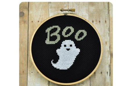 A Cute Ghost to Cross Stitch