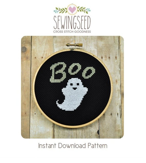 ghost cross stitch pattern