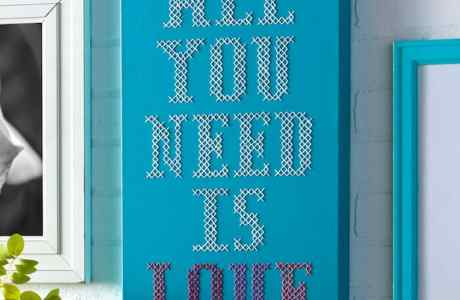 How to Make a Cross Stitch Quote on Canvas