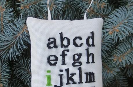 Stitch an I Love You Sampler Ornament