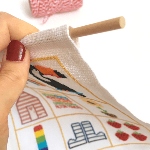 how to make a cross-stitch banner