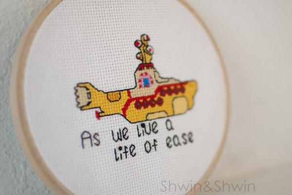 yellow submarine cross stitch