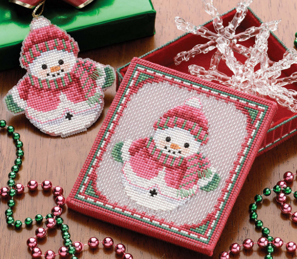 snowman cross stitch
