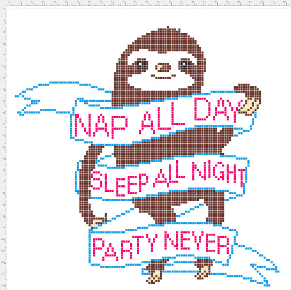sloth cross stitch