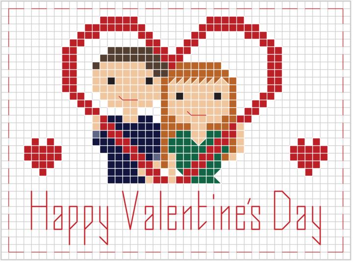stitch people valentines cross stitch