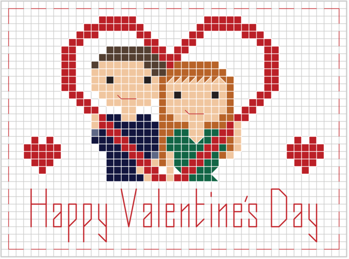 stitch people valentines cross stitch