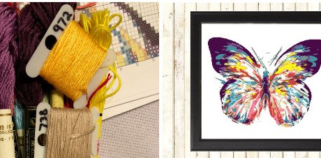 butterfly cross stitch kit