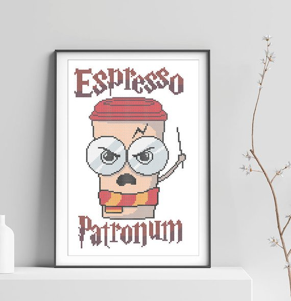 espresso patronum cross stitch