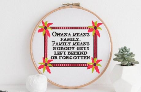 ohana cross stitch