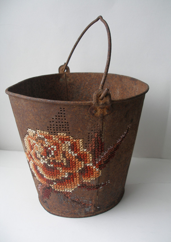 cross stitch bucket