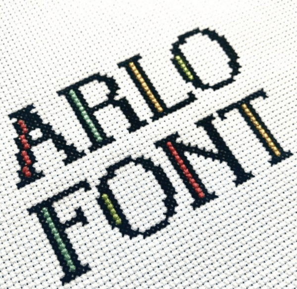 Grab this Free Font to Make Your Cross Stitch Your Own