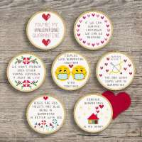 Cross Stitch a Quarantine Valentine