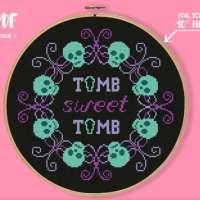 Tomb Sweet Tomb Cross Stitch Pattern