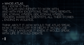 It would seem that Atlas has a habit of creating races. Could a fourth break the cycle?