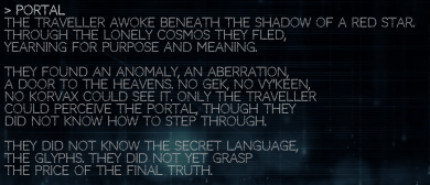 But one word merely gives acknowledgement, not an end. Waking Titan shows we are yet to understand the secret language or glyphs.