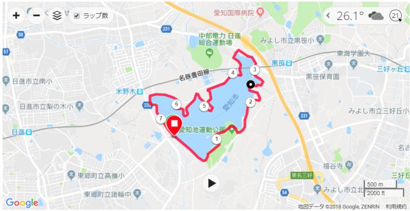 GARMIN CONNECT MAP抜粋