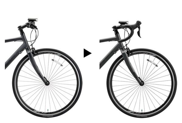 ドロップハンドルとフラットハンドルの比較