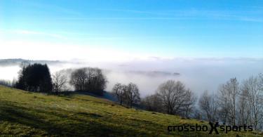 Laufen im Winter - Nebel