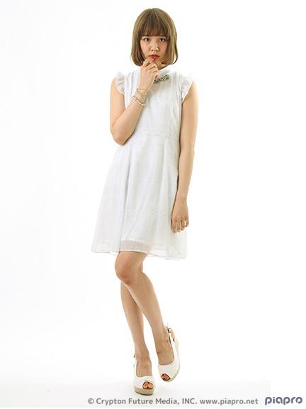 pictorial symbol print dress