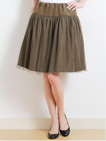 ・チュールミディアムスカート