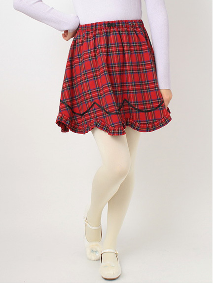 Check Frill Skirt