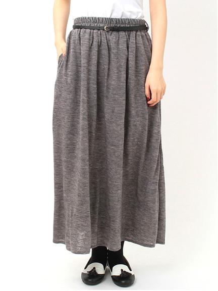 ベルト付カットマキシスカート
