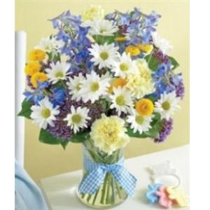 baby boy gift flowers