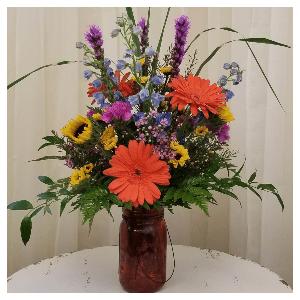 fall sunflowers vase flowers