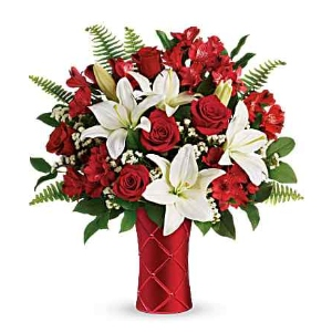 valentines flower roses lily