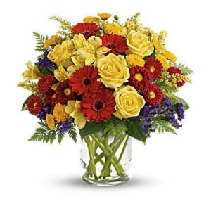 yellow and red flowers