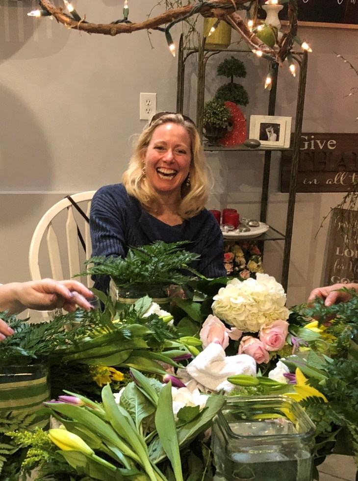 florist workshop, girls night out