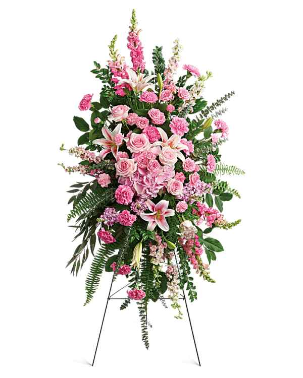 A spray of pink flowers