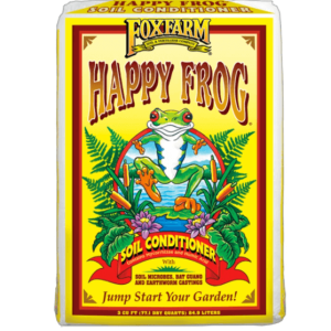 Fox Farm Soil Conditioner has a cute frog mascot on its bright yellow packaging. Nourish vegetables, perennials, or annuals with this nutrient rich blend.