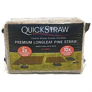 Compressed bags of pine straw
